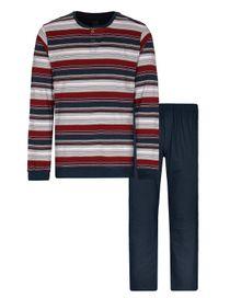 COMMANDER Schlafanzug - Dark Red Blue