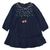 JETTE Kleid aus Baumwollmusselin - Deep Blue
