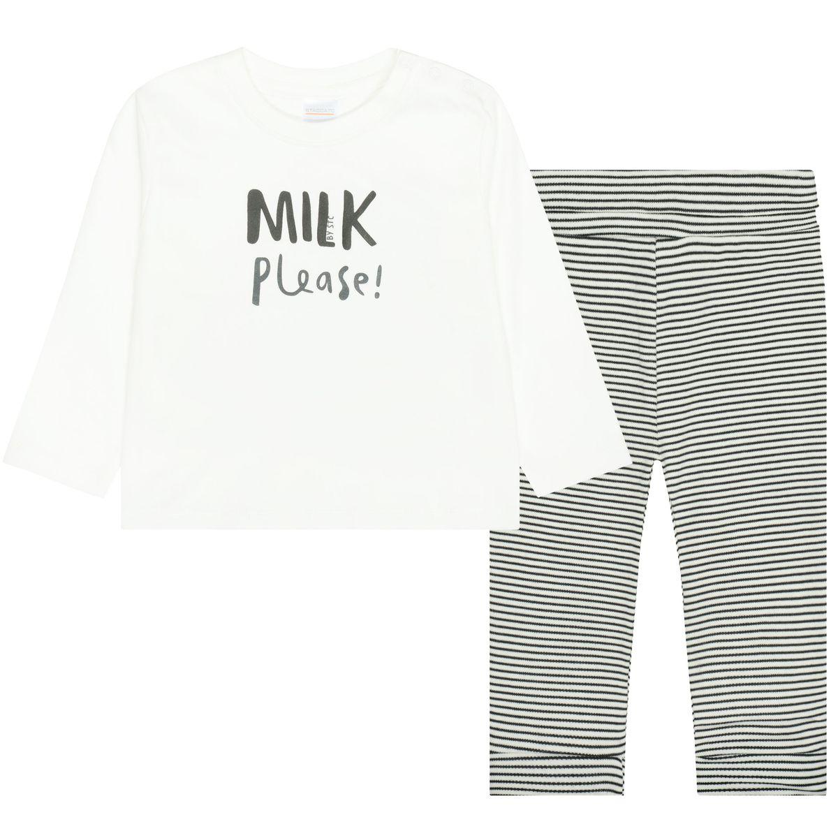 ORGANIC COTTON Pyjama - Offwhite Streifen