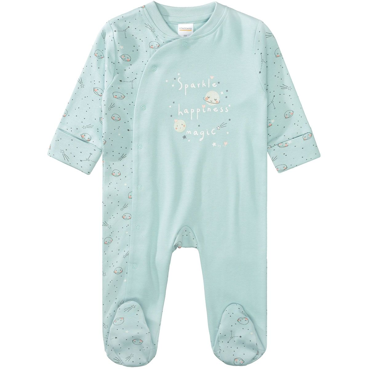 ORGANIC COTTON Pyjama SPARKLE - Pastel Mint