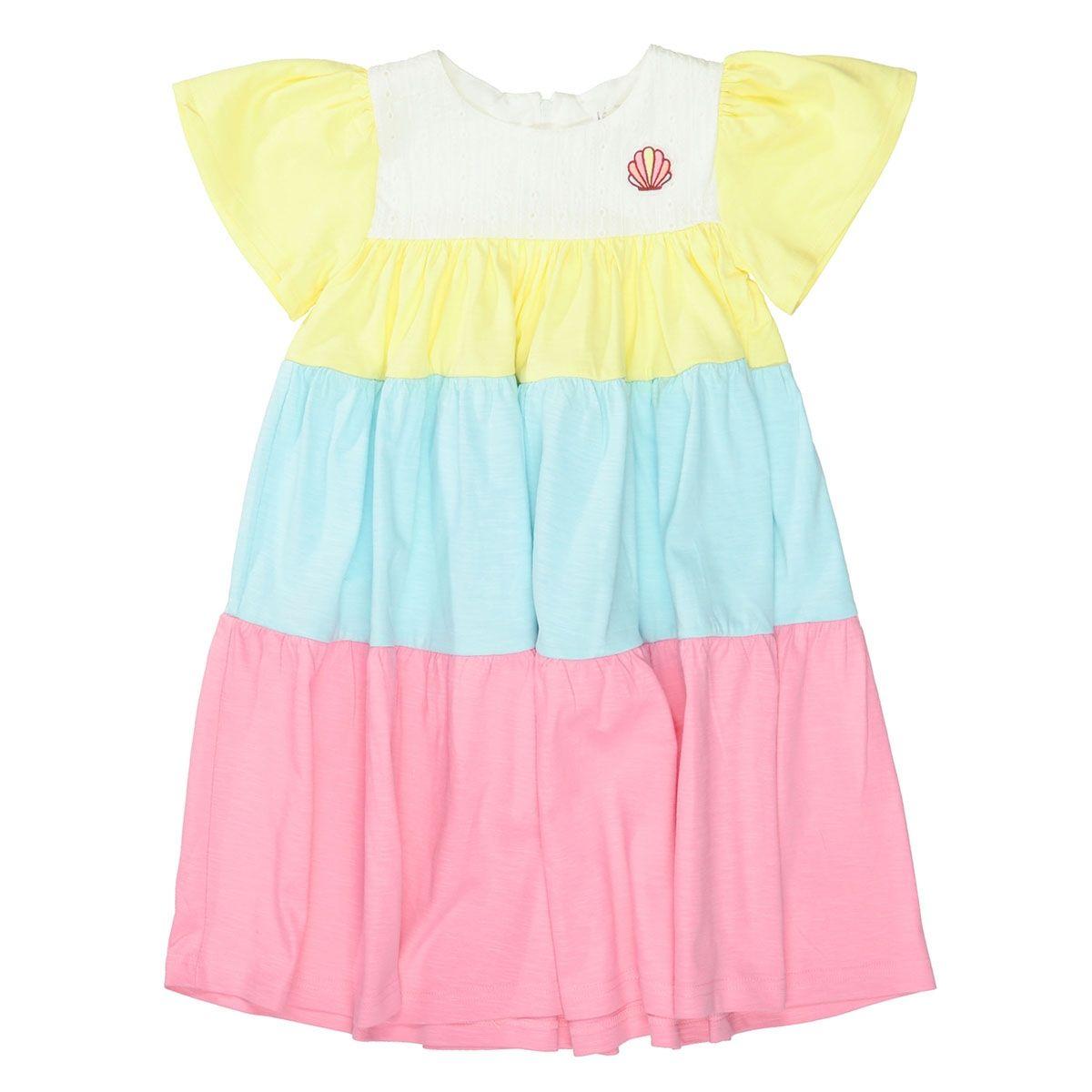 JETTE Kleid mit Colour-Blocking - Multi