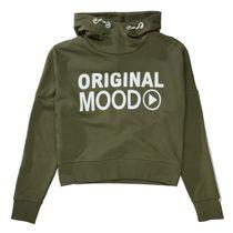 Cropped Hoodie mit Wording - Khaki
