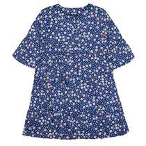 ATTENTION Kleid mit Allover-Print - Jeans Blue-Flow