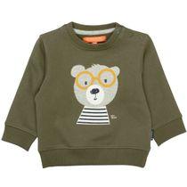 Sweatshirt mit Applikation - Olive