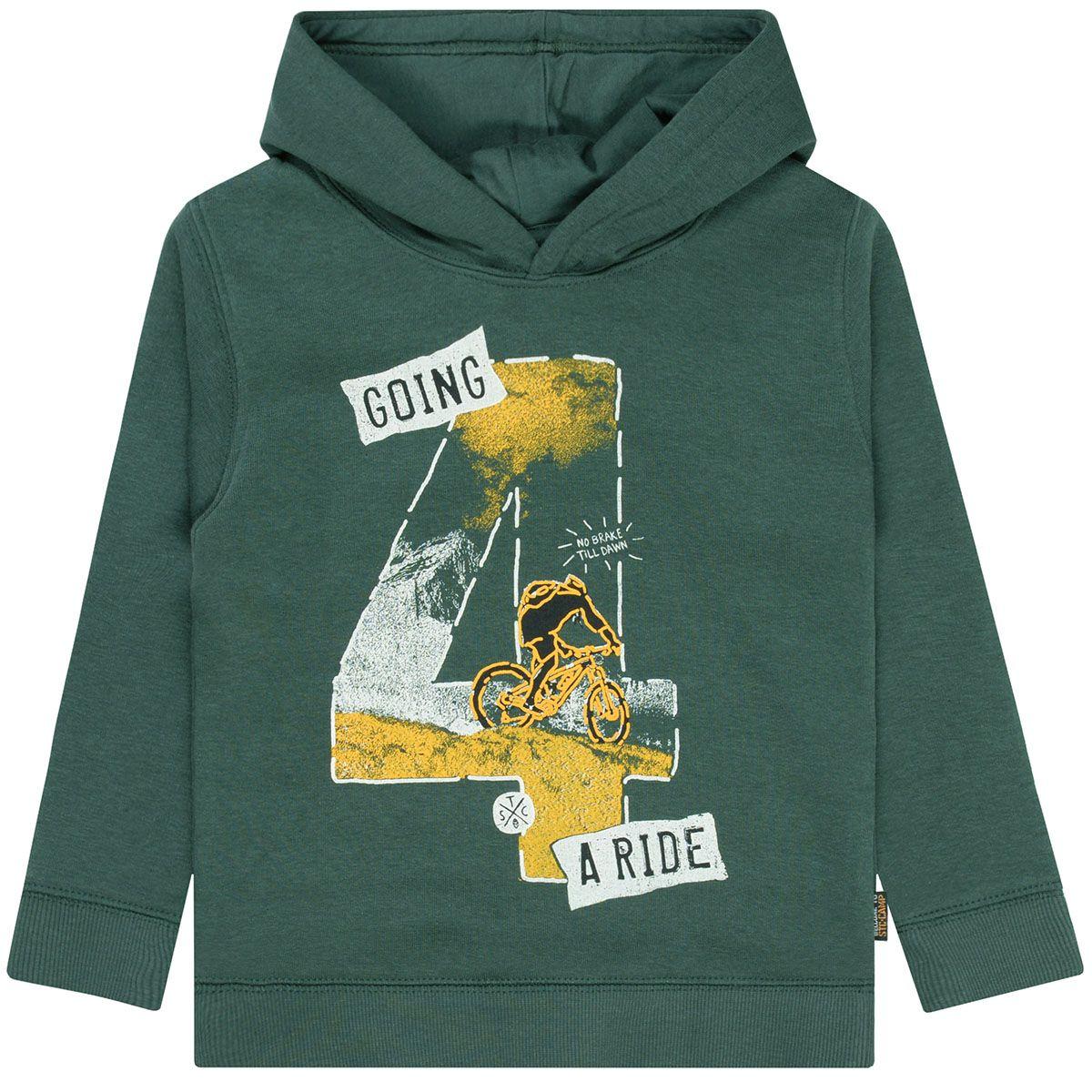 Kapuzen Sweatshirt mit Frontprint - Dark Green