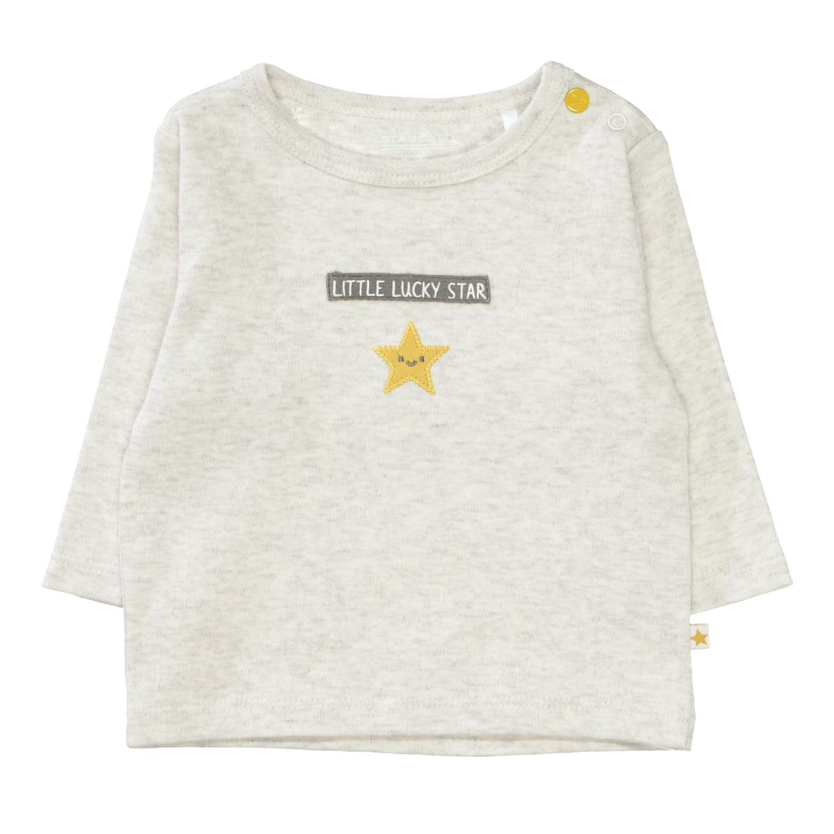 ORGANIC COTTON Langarmshirt mit Wording - Soft White Melange