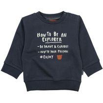 Sweatshirt mit Wording-Print - Tinte
