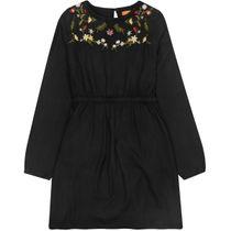 Kleid Blumen - Black