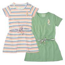 2er-Pack Kleider mit Vogel-Patch auf der Brust - Bunt Sortiert