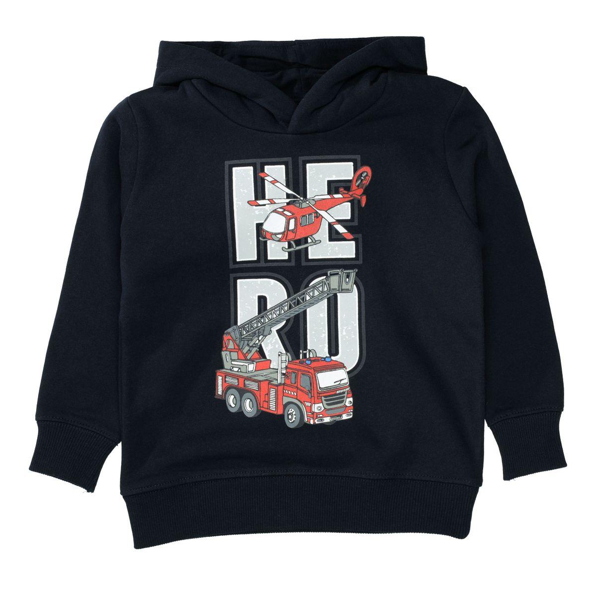 ATTENTION Sweatshirt mit coolem Front-Print - Navy