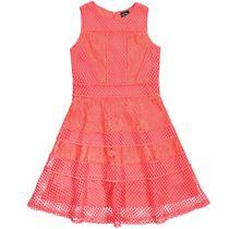 JETTE Kleid mit Spitze - Coral