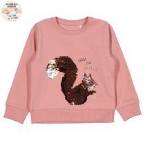 WENDEPAILLETTEN Sweatshirt mit Wording-Print - Soft Rose