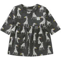 Kleid mit Taschen - Graphit Melange Alloverprint