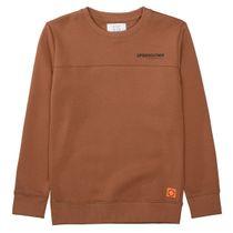 Sweatshirt mit Wording-Print - Dark Toffee