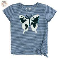 WENDEPAILLETTEN Streifenshirt - Indigo Blue