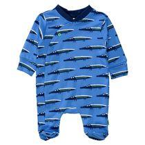 ORGANIC COTTON Pyjama KROKODIL - Soft Blue Denim