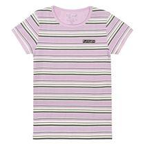 T-Shirt mit Streifen-Design - Vintage Lilac