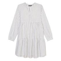MARC O'POLO Kleid aus reiner Baumwolle - Washed Blue Streifen