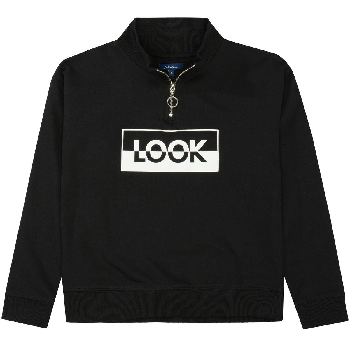 ATTENTION Sweatshirt LOOK - Black