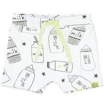 ORGANIC COTTON Shorts mit Allover-Print - Milk Bottle