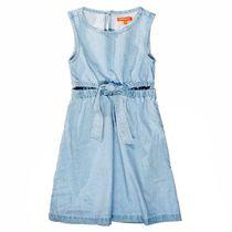 Jeans Kleid mit Cut Outs - Light Blue Denim