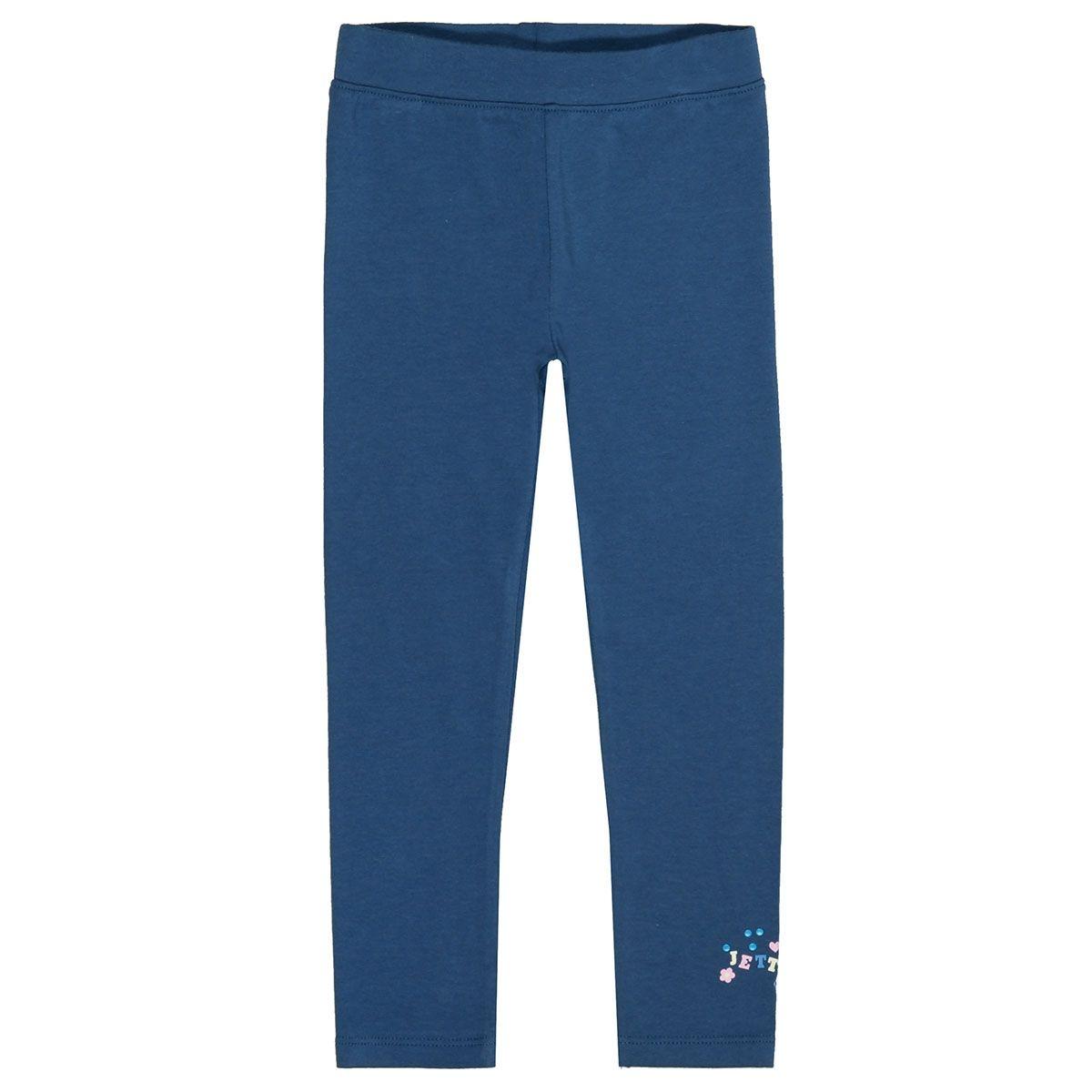JETTE Leggings mit Logo-Print - Steel Blue