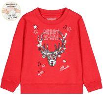 WENDEPAILLETTEN Kids Sweatshirt X-MAS - Chili