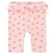 ORGANIC COTTON Leggings mit Erdbeer-Patch - Soft Blush
