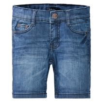ATTENTION Jeans Bermudas mit verwaschener Optik - Mid Blue Denim