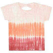 T-Shirt mit Batik-Muster - Neon Red