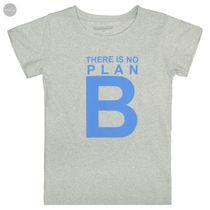 Recycling T-Shirt NO PLAN B - Grey Melange