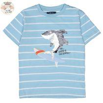 ATTENTION Shirt mit Wendepailletten - Light Ocean