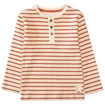 Langarmshirt mit Streifen-Design - Rust