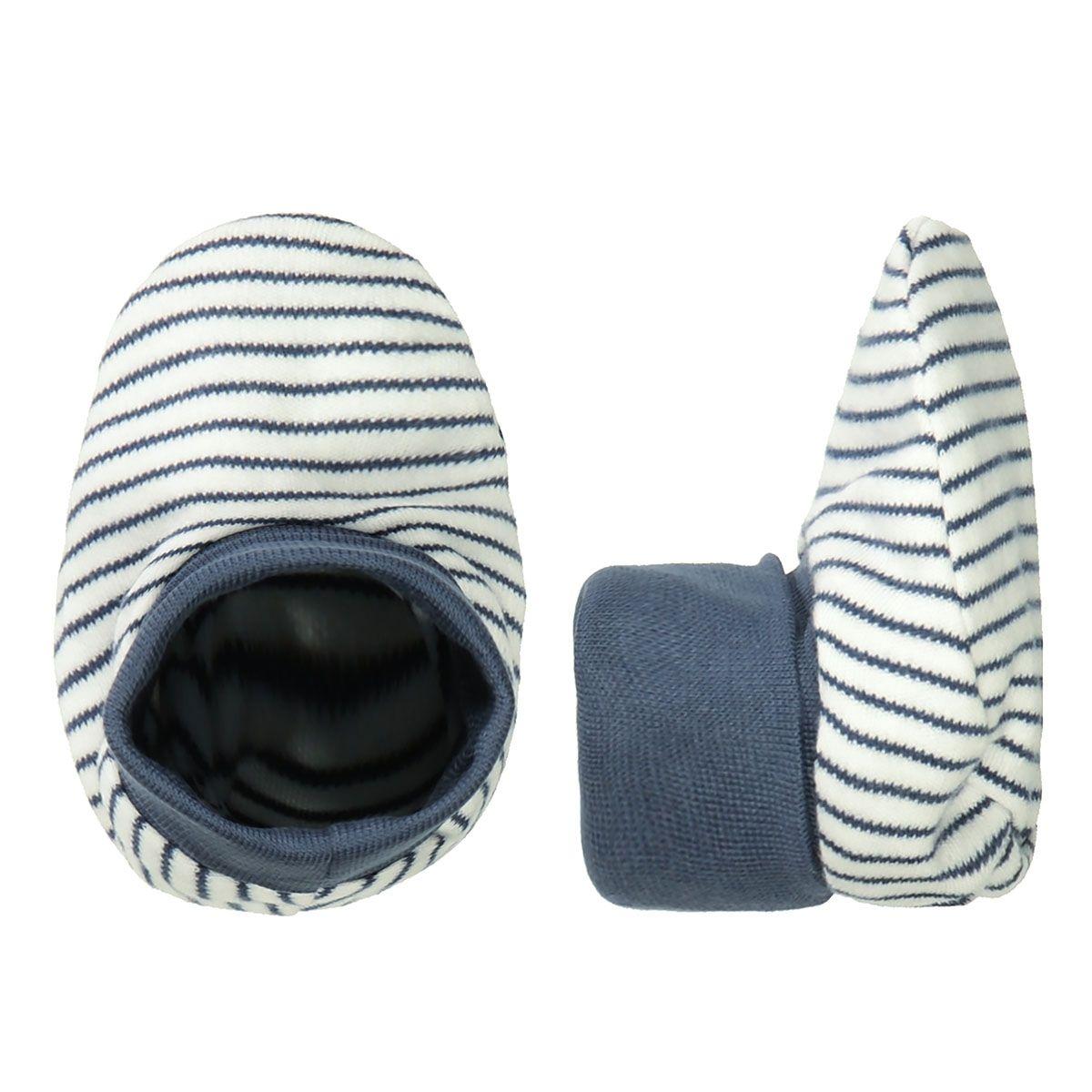 ORGANIC COTTON Baby Schuhe - Offwhite Streifen