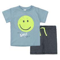 Shorty Pyjama SMILE - Light Blue