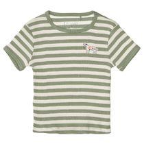 T-Shirt im Streifen-Design - Khaki