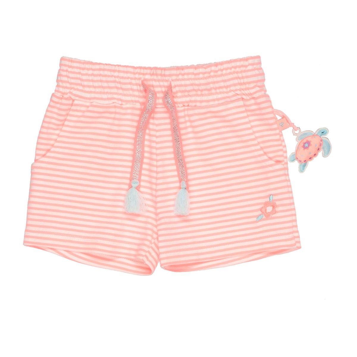 Shorts im Streifen-Design - Neon Papaya