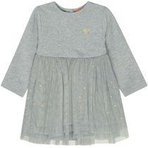 Kleid mit Tüllrock – Mid Grey Melange