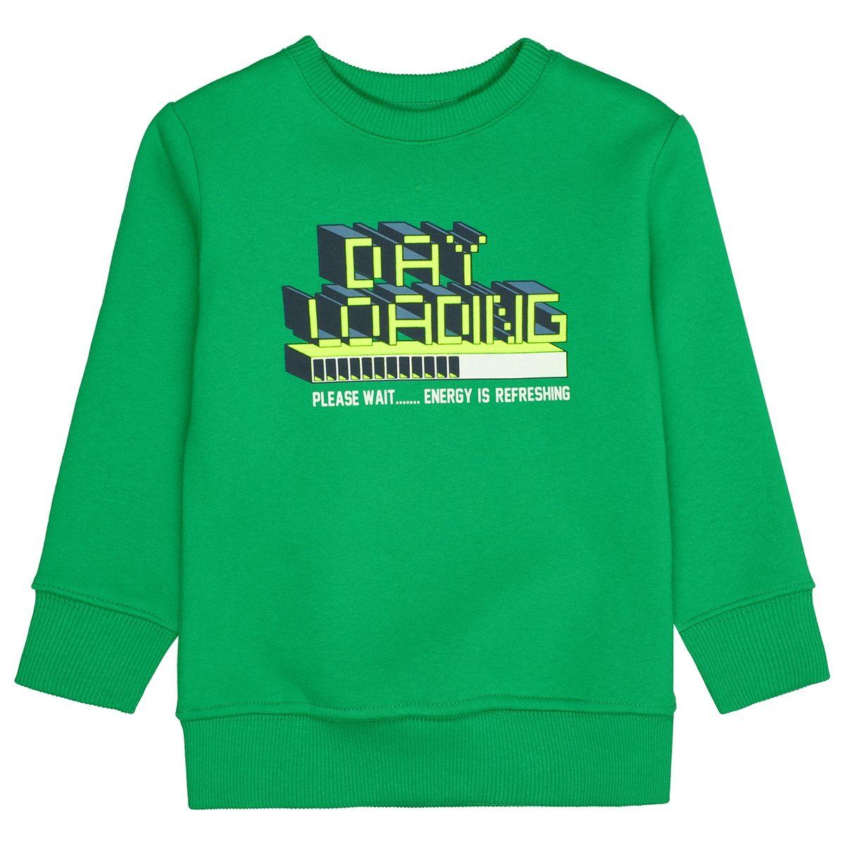 ATTENTION Sweatshirt mit Neon-Print - Green