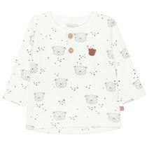 ORGANIC COTTON Langarmshirt mit Allover-Print - Offwhite
