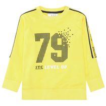 Sweatshirt mit Print - Yellow