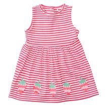 Kleid ERDBEERE - Cherry Streifen