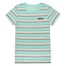 T-Shirt mit Streifen-Design - Mint