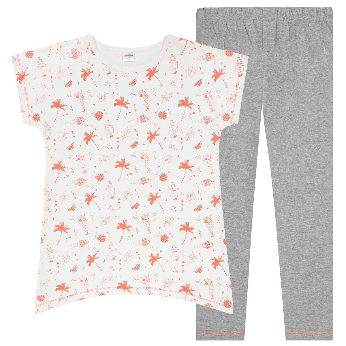 Pyjama Sommer - Offwhite Silver