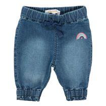 Jeans mit Regenbogen-Print - Blue Denim