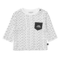 ORGANIC COTTON Shirt LITTLE EXPLORER - Offwhite