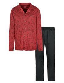 COMMANDER Schlafanzug - Dark Red Black