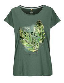 FRY DAY Shirt mit Frontprint - Dark Olive