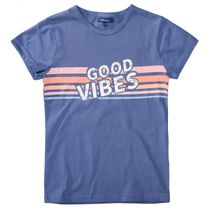 ATTENTION T-Shirt mit Wording-Print - Jeans Blue