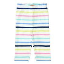 Capri-Leggings im Streifen-Design - Offwhite